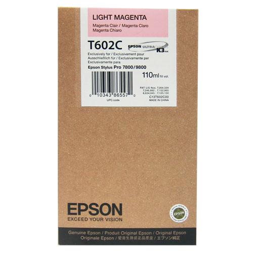 【EPSON 墨水匣】T602C00 淡紅色7800繪圖機墨水匣(110ml)