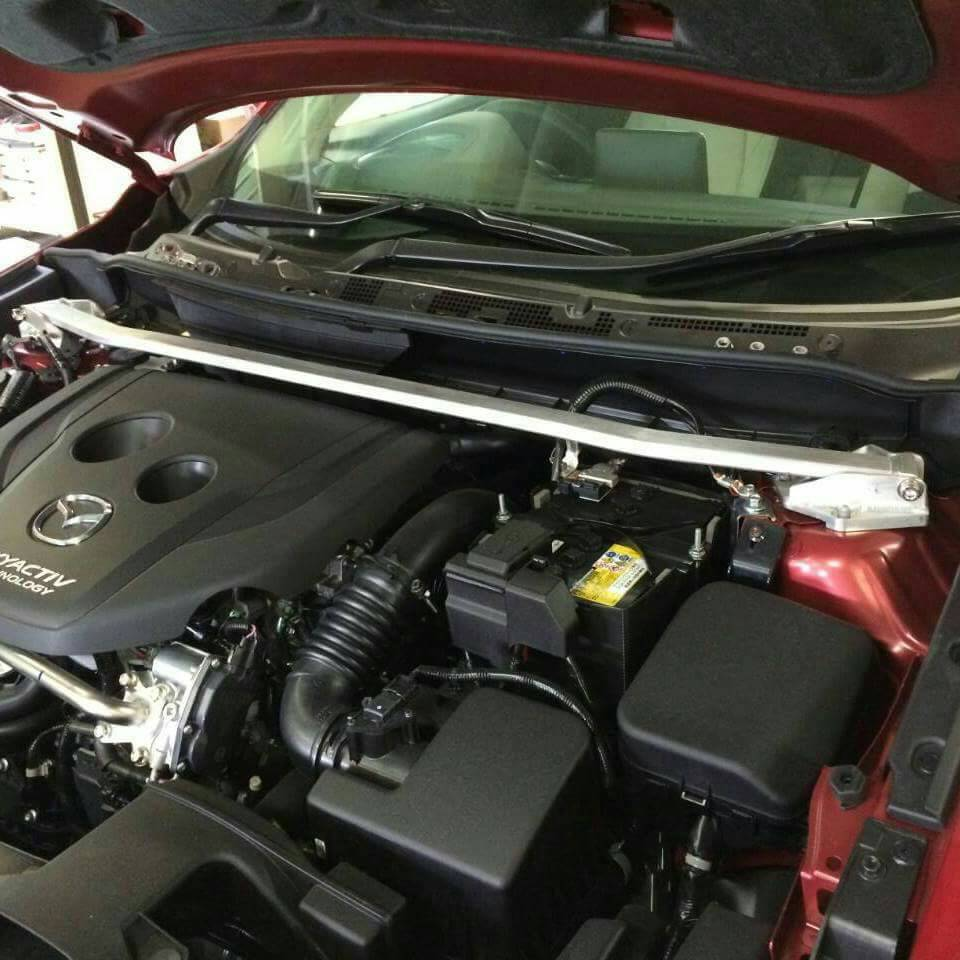 MAZDA 汽車引擎室拉桿 for 2015 MAZDA 2 (ALUTEC)