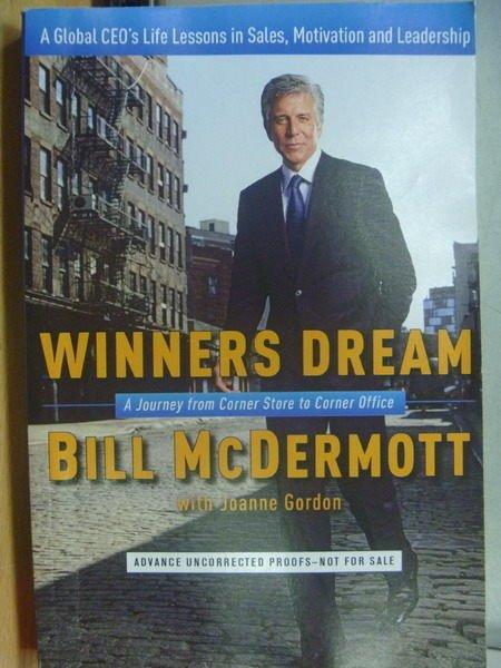 【書寶二手書T5/原文小說_ZKW】Winners Dream_Bill McDermott