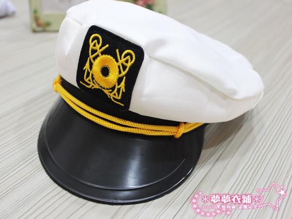 Oo粉紅泡泡oO(B249037)100%實品拍攝 白色水手帽.海軍帽.造型女警帽.尾牙表演.迎新舞會.角色扮演配件