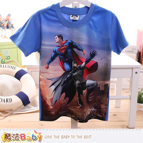 男童裝 蝙蝠俠對超人正義曙光授權短袖T恤 魔法Baby~k50098