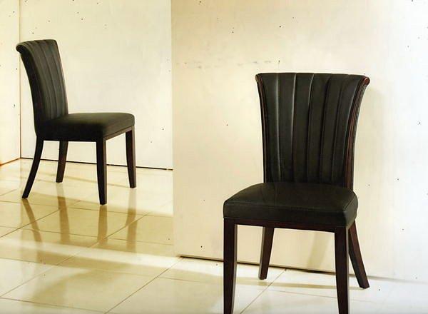 【尚品傢俱】664-17 雪紡胡桃實木造型餐椅 ~超耐用