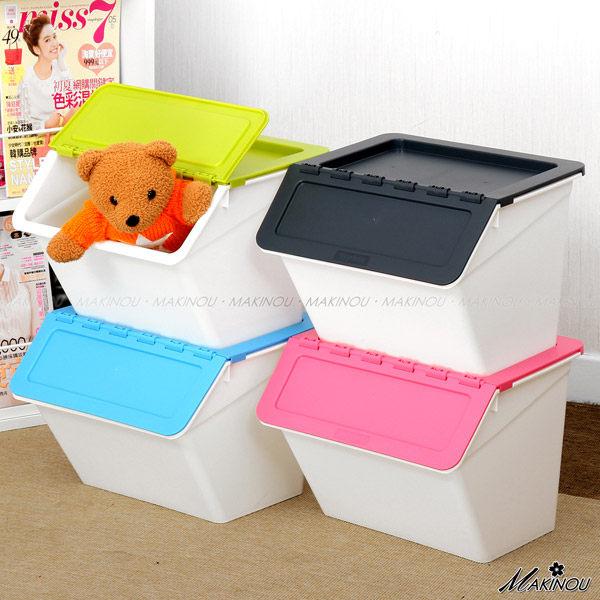 整理箱| 日本MAKINOU-斜口可疊收納箱- 015|台灣製造塑膠收納箱