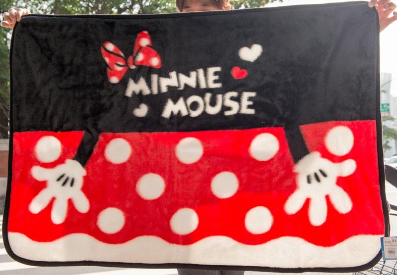 迪士尼 米妮 Minnie 禦寒毛毯 日本正版品