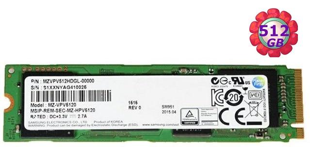Samsung 三星 SSD 512GB【NVMe】SM951 Gen3 M.2 80mm PCIe 3.0 x4 MZVPV512HDGL 固態硬碟