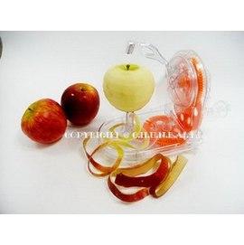 透明橘~DIY旋轉式 水果 削皮機-削皮器-多吃水果削削脾氣喔! 削蘋果機/削梨子機