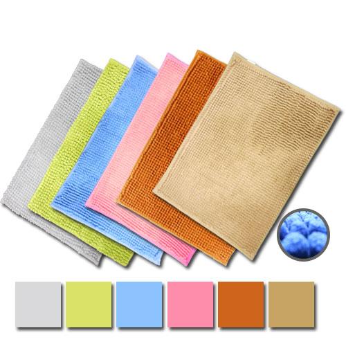 雪尼爾防滑腳踏墊 *3片 顏色隨機/媽咪超愛/乾爽/浴室必備地墊/吸水/速乾