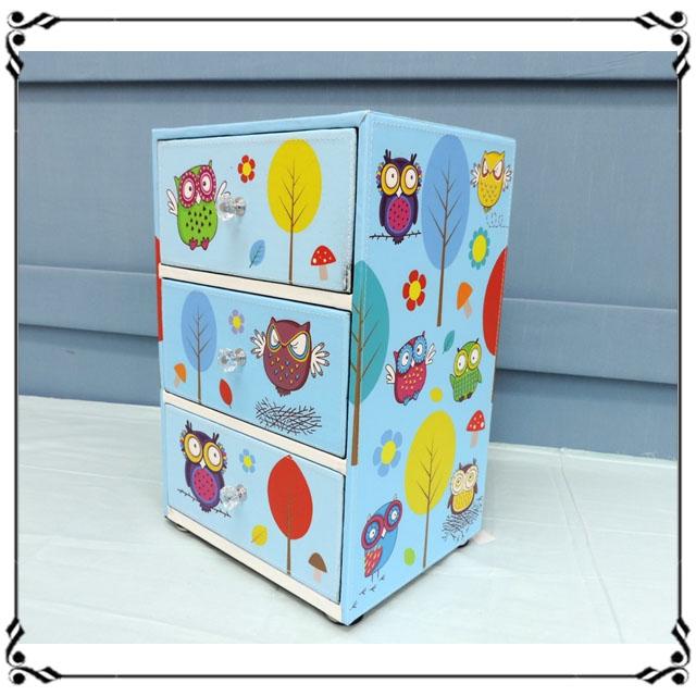 木製小斗櫃小3抽《LN10》ZAKKA鄉村貓頭鷹旗三抽櫃 小型3抽櫃 皮革收納櫃 兒童玩具櫃 辦公室◤彩虹森林◥