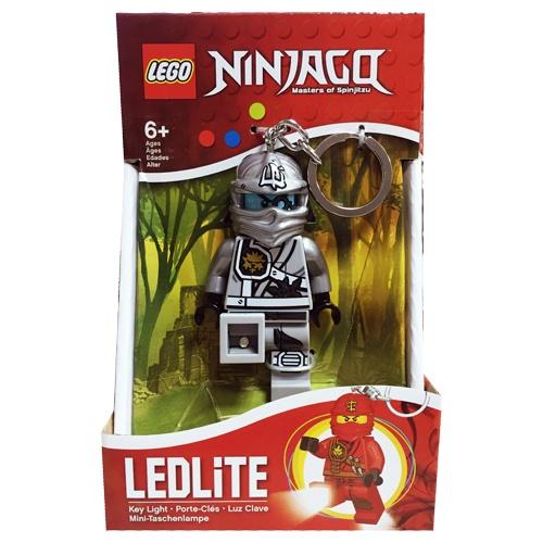 【 LEGO 樂高積木 】忍者人型 LED 燈鑰匙圈- 銀忍- 贊