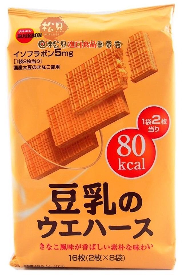 北日本豆乳威化餅16枚112g【4901360285587】