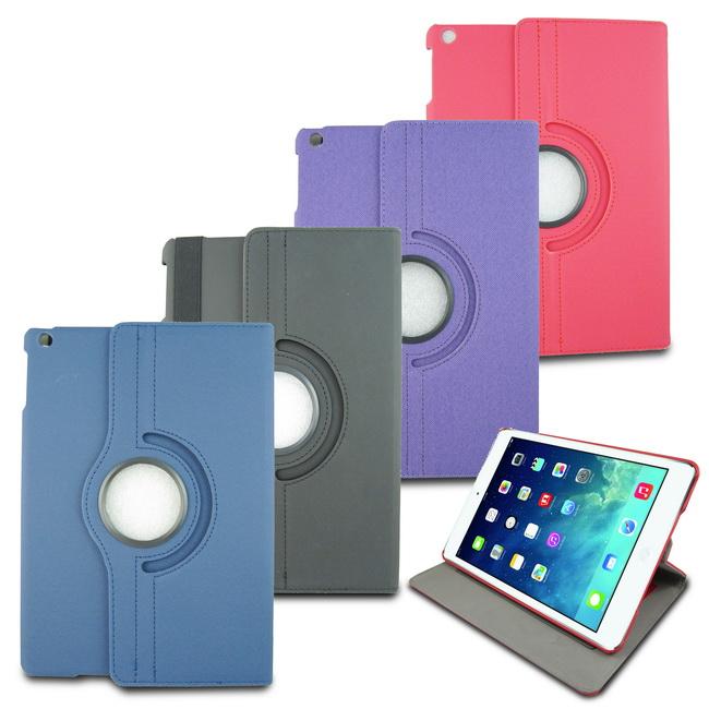 L80斜紋旋轉iPad Air2(iPad6)平板皮套(加贈螢幕貼)