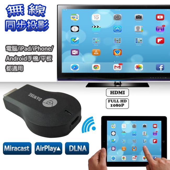 WD01無線螢幕同步分享器(支持Airplay/Miracast/DLNA)
