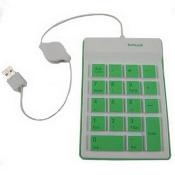 五彩繽紛USB數字鍵盤(顏色隨機出貨)