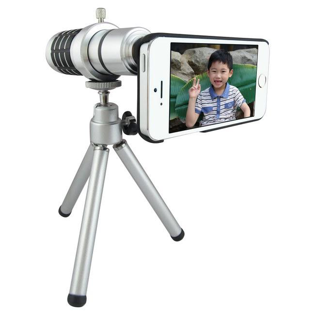 TS10銀砲管 iphone5S/5專用型 望遠鏡頭組(12倍光學變焦)
