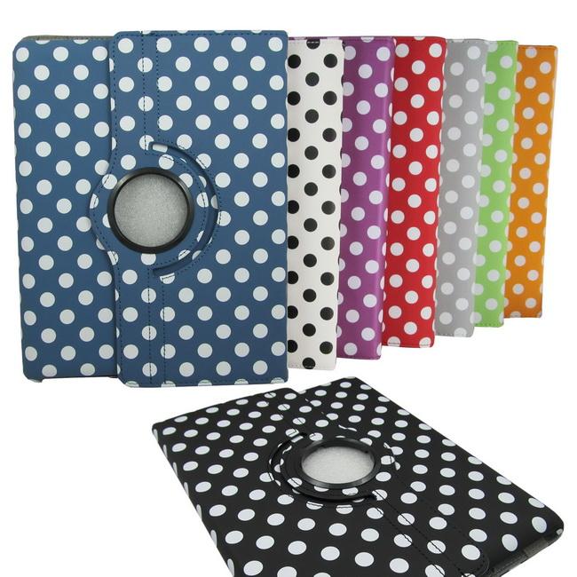 L29圓點款 iPad4/3/2平板旋轉皮套