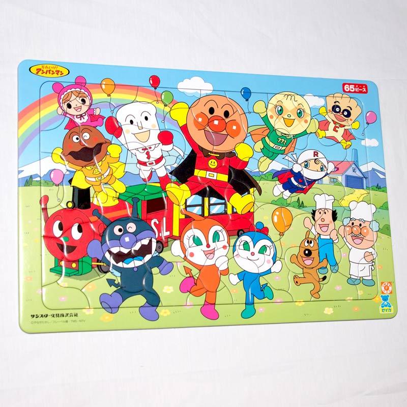 麵包超人 65片 拼圖+畫板 3歲以上 日本帶回正版品