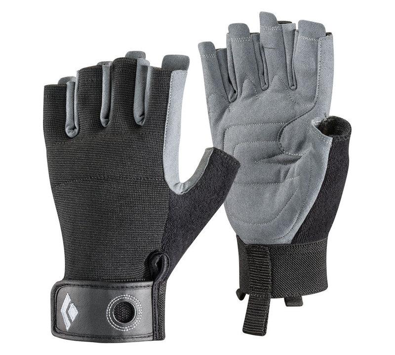├登山樂┤美國Black Diamond Crag Half-Finger Glove攀岩半指手套 黑#801859-Black