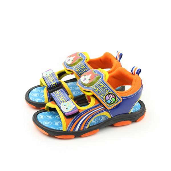 妖怪手錶 涼鞋 藍 中童 no639