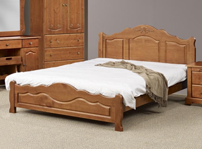 【尚品傢俱】400-03 夏麗 浮雕柚木色5尺雙人床台~另有烤白床台~另有3.5尺、6尺床台/床架