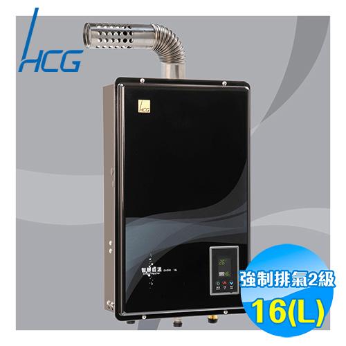 和成 HCG 16公升 數位恆溫強排熱水器 GH596BQ