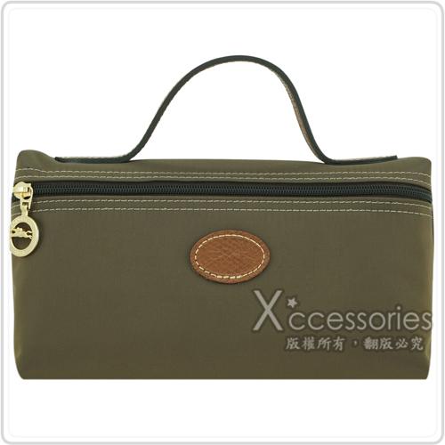 LONGCHAMP Le Pliage 摺疊包系列化妝包(大/墨綠)