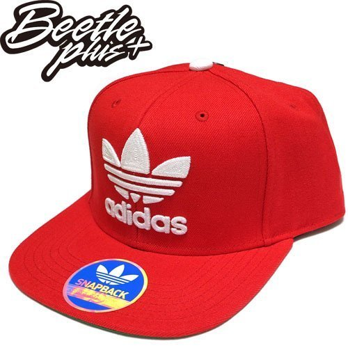 超熱賣 BEETLE ADIDAS ORIGINALS THRASHER 紅白 後扣棒球帽 貝克漢 SNAPBACK S48636 NT-98