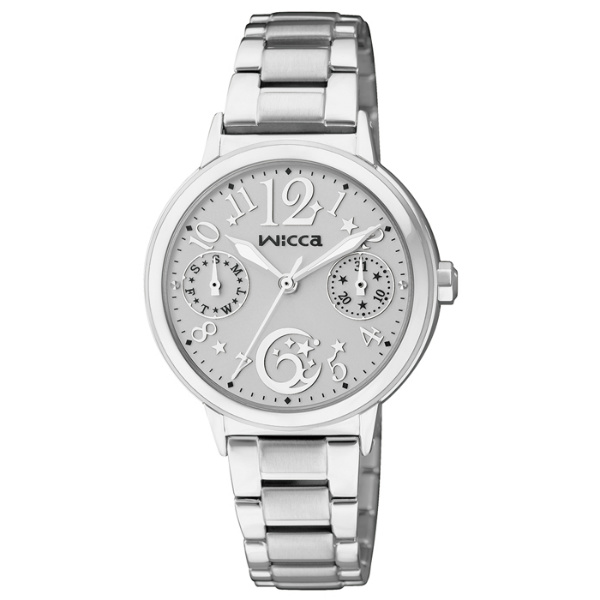 CITIZEN星辰WICCA(KB1-015-11)台灣限定星月戀人腕錶/白面30mm