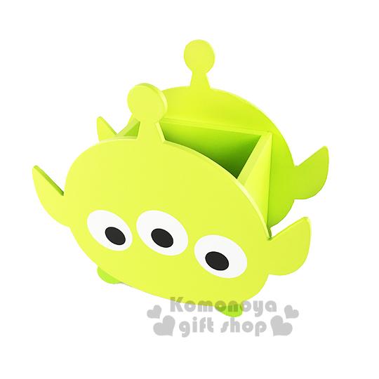 〔小禮堂〕迪士尼 TSUM TSUM 三眼怪 木製造型筆筒《綠.大臉》
