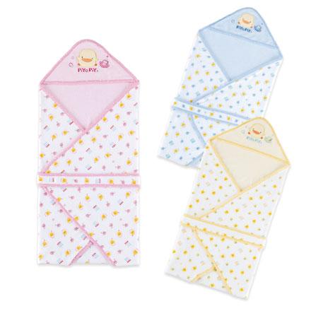 【悅兒樂婦幼用品舘】Piyo 黃色小鴨 毛巾布雙層包巾