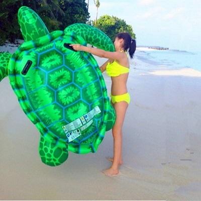 游泳圈充氣救生圈-超大海龜安全手把水上活動坐騎浮板73ez8【獨家進口】【米蘭精品】