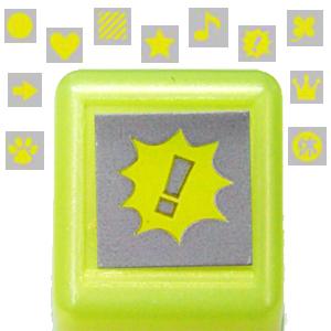 Kodomo 螢光手帳小印章系列 - 螢光黃(圖案入內挑選)