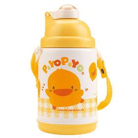 黃色小鴨 彈跳保溫保冷水壺-375cc【德芳保健藥妝】