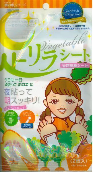 日本樹之惠 竹樹液足貼 胡蘿蔔 2枚入【德芳保健藥妝】