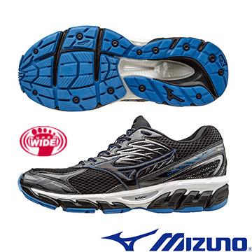 J1GC164109(黑X黑)扁平足專用鞋款 WAVE PARADOX 3 2E 超寬楦男慢跑鞋 A【美津濃MIZUNO】
