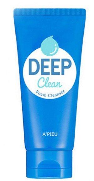 韓國 APIEU 碳酸水深層清潔泡泡洗面乳 130ML ☆真愛香水★
