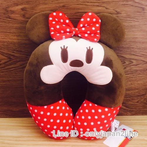 【真愛日本】16120100004造型頸枕-米妮   迪士尼 米老鼠米奇 米妮 頸枕 枕頭 居家用品 汽車用品
