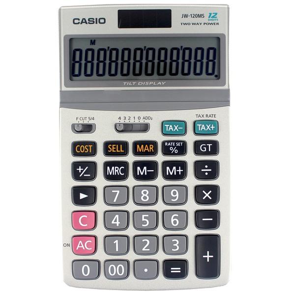CASIO 卡西歐 計算機 JW-120MS 桌上型商用計算機 12位數/一台入 定[#700]}~(螢幕角度可調整)