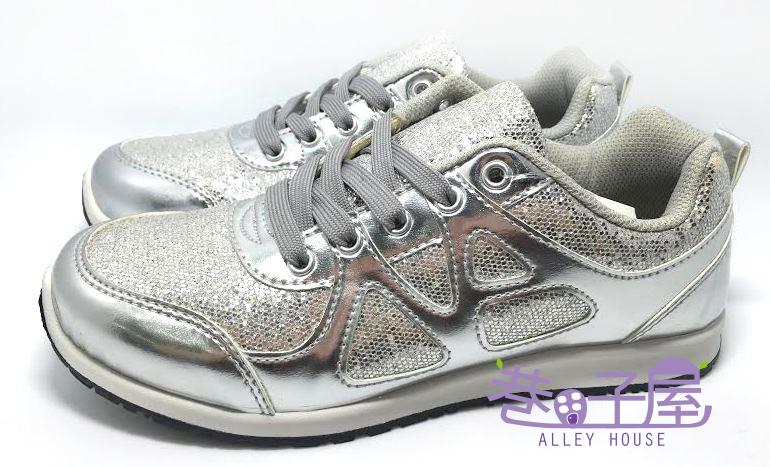 【巷子屋】Wenies PoLo 女款韓版亮片運動休閒鞋 [3361] 銀色 MIT台灣製造 超值價$298