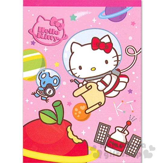 〔小禮堂〕Hello Kitty 便條本《粉.太空人.老鼠.蘋果》Sanrio55週年系列