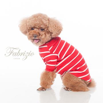 Fabrizio圓領立體壓摺造型條紋寵物衣-3色