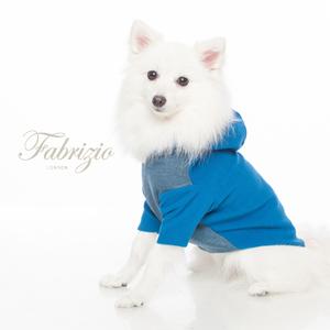 Fabrizio刷毛大V領雙層連帽開襟寵物衣-2色
