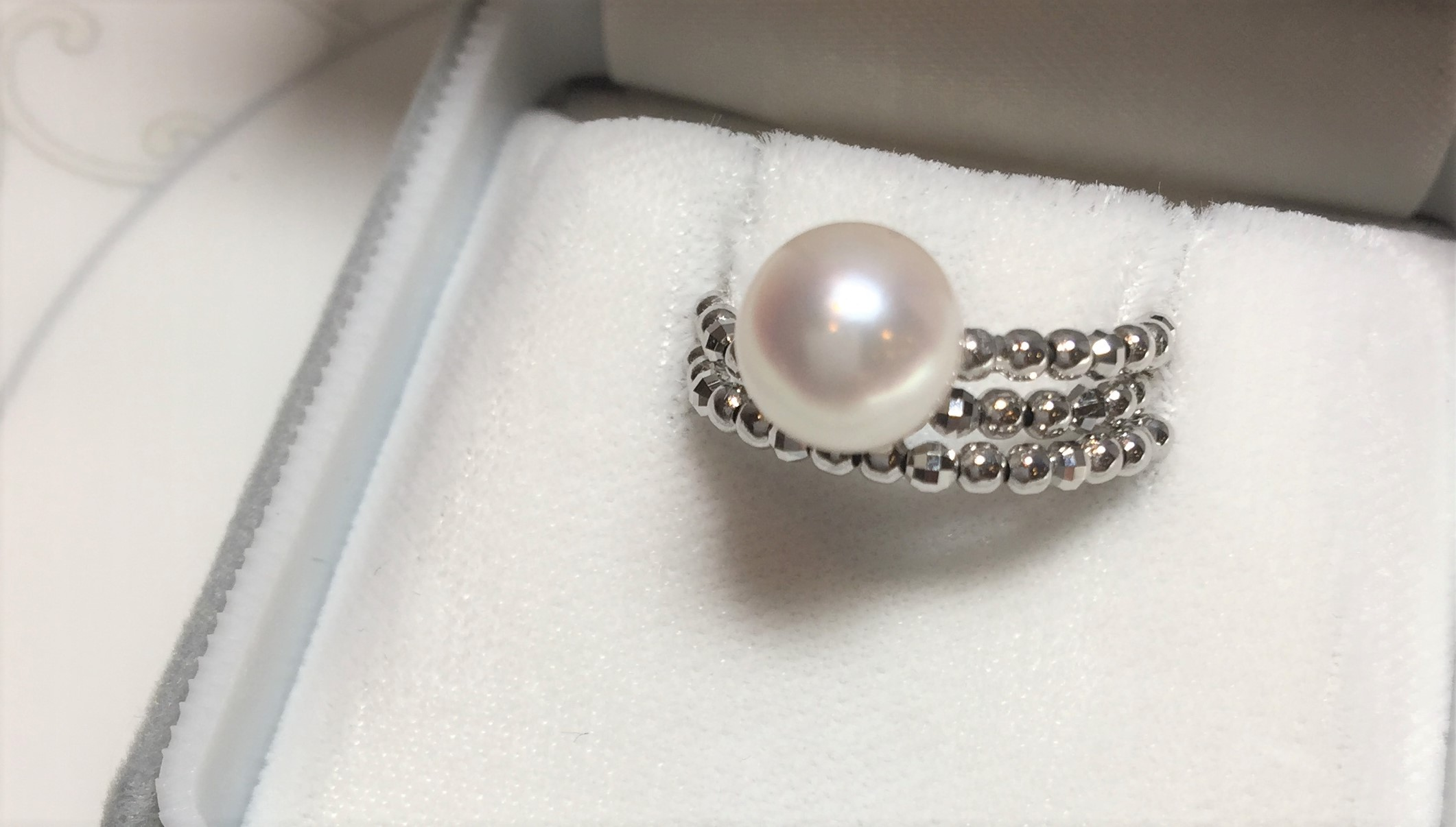 MIKIMOTO等級_日本AKOYA海水珍珠白18K金戒指