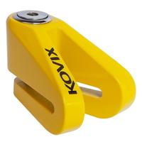 《育誠科技》『KOVIX KV1 黃色』碟煞鎖/送原廠收納袋+提醒繩/5mm鎖心/一般車通用款/另售鋼甲武士機車大鎖