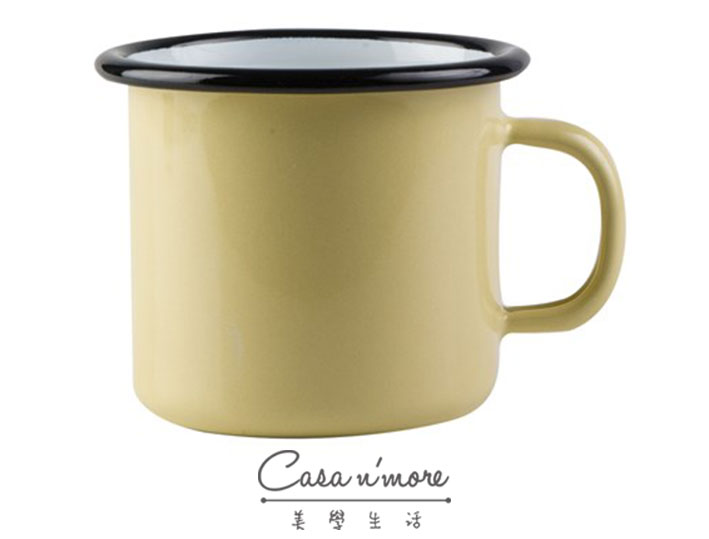 Muurla 馬克杯 咖啡杯 琺瑯 嫩葉黃 250 ml