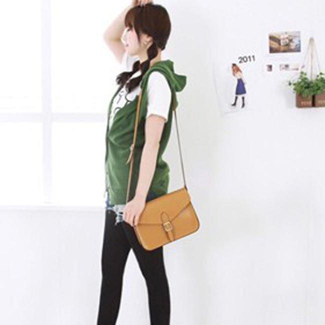 * Anne&Alice包包購 * ~韓風時尚新款復古郵差包單肩包斜挎女包最後一只超低特價中~棕黃色款~*
