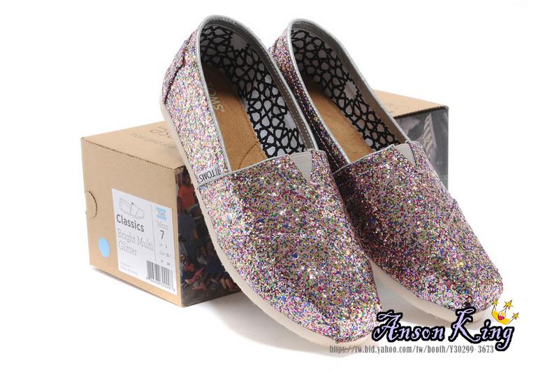 [女款] 國外代購TOMS 帆布鞋/懶人鞋/休閒鞋/至尊鞋 亮片系列  彩色