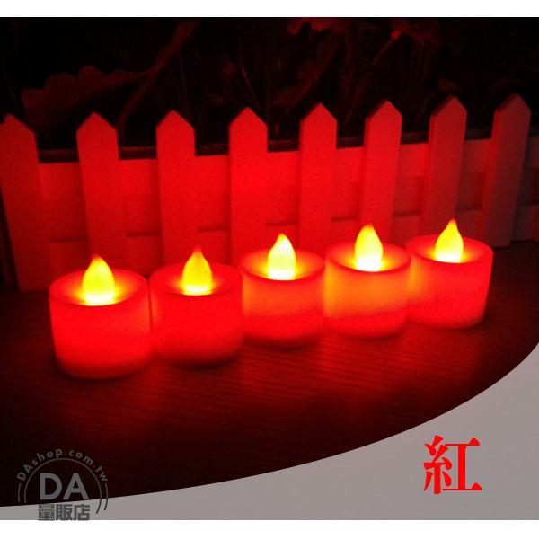 《DA量販店》紅色 LED 電子 蠟燭 造型燈 裝飾燈 求婚 活動 環保 實用(V50-0832)
