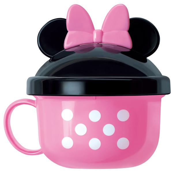 ★衛立兒生活館★日本 迪士尼 Disney 米妮外出副食品餵食碗(附湯匙)