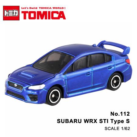 日貨 TOMICA No.112 SUBARU WRX STI Type S 速霸陸 真車系列 汽車模型 多美小汽車【N201368】