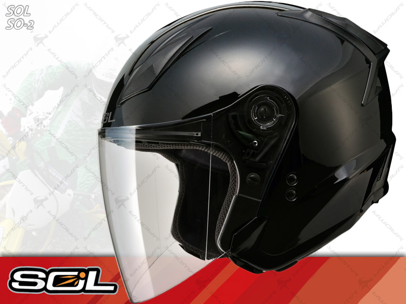 SOL安全帽 SO-2 / SO2 黑【簡約輕化.可加下巴】 半罩帽 『耀瑪騎士生活機車部品』